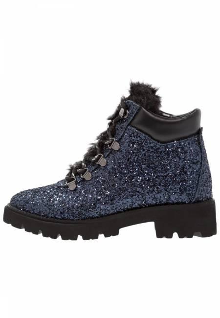 Steve Madden: ASUR - Plateaustiefelette - blue glitter
