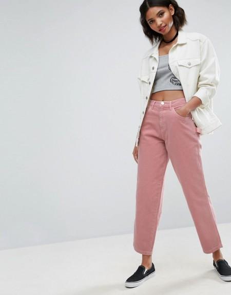 ASOS - Carpenter-Jeans in verwaschem Pink - Rosa