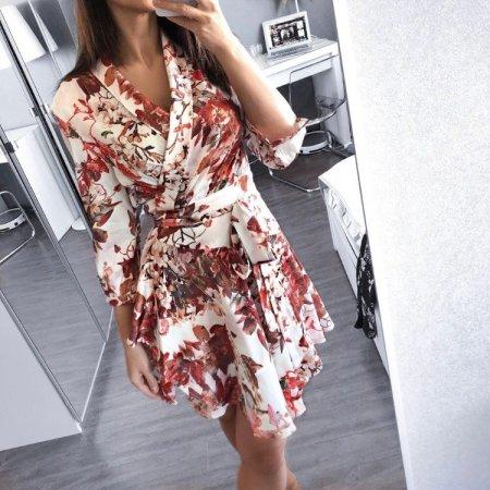 Fashion Movements: White floral print wrap dress