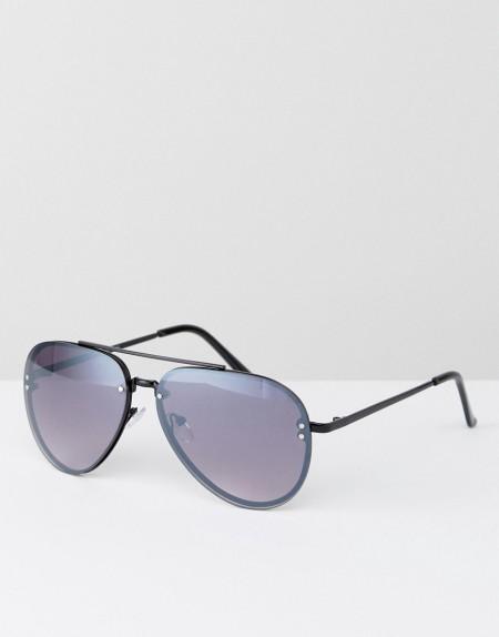AJ Morgan - Schwarze Pilotenbrille aus Metall - Schwarz
