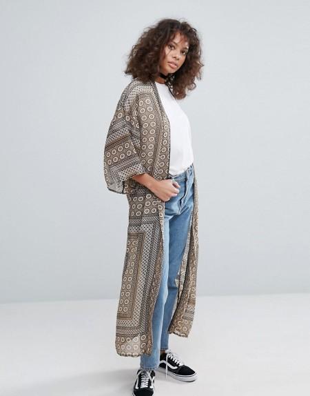 Glamorous - Kimono mit Paisleymuster - Braun