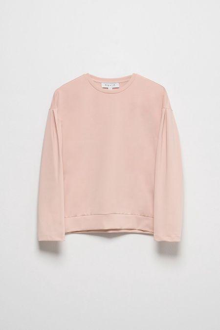 NU-IN: Dropped Shoulder Puff Sleeve Sweatshirt