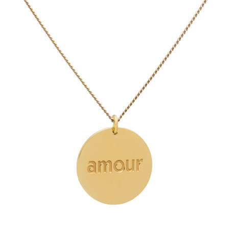 blue billie: Amour Gold Plated Necklace
