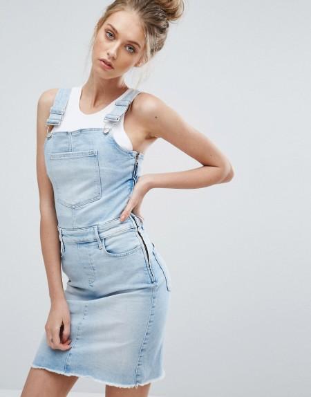 Calvin Klein Jeans - Latzkleid - Blau