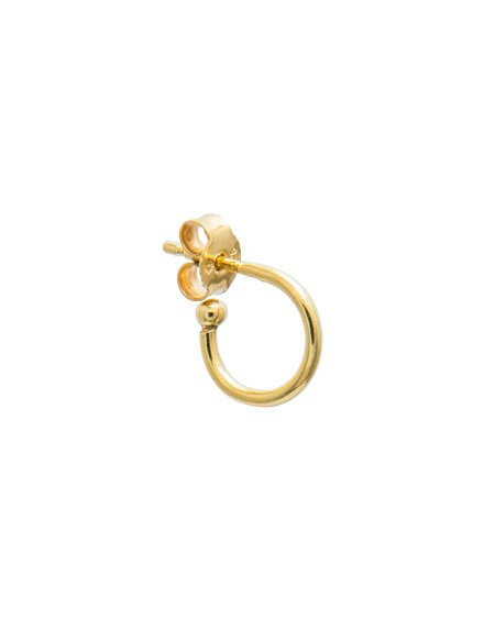 blue billie: Small Hoop Earring Gold Plated