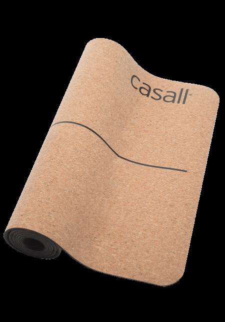 Casall: Yoga mat natural cork 5mm – Natural cork/black