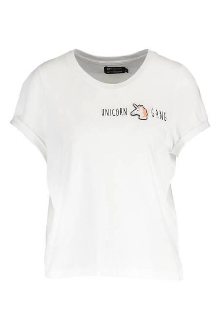 Even&Odd X Visual Statements: T-Shirt print - white