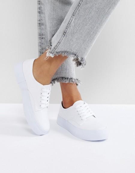 Blink: Flache Sneaker - Weiß