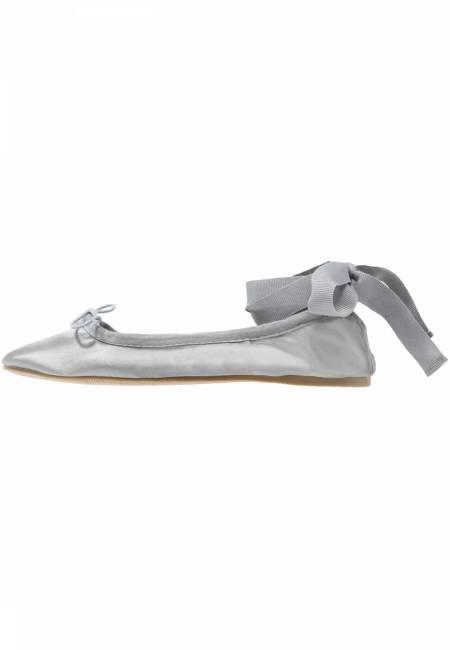 Topshop: VIOLET SATN BALET - Klassische Ballerina - grey