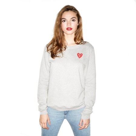 Oh Yeah! Clothing: Heart 28 Sweater Grey