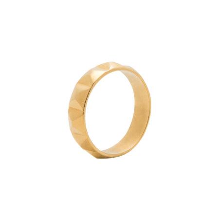 blue billie: Stud Ring Gold Plated