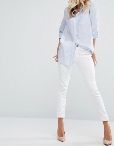 Boss Orange - Weiße Jeans mit schmalem Bein - Weiß