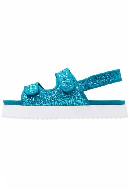 Shellys London: DAMARA - Plateausandalette - blue glitter