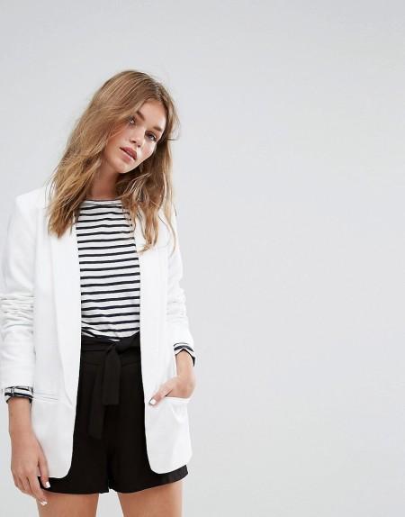 Pimkie - Minimalistischer Blazer mit Taschen - Weiß