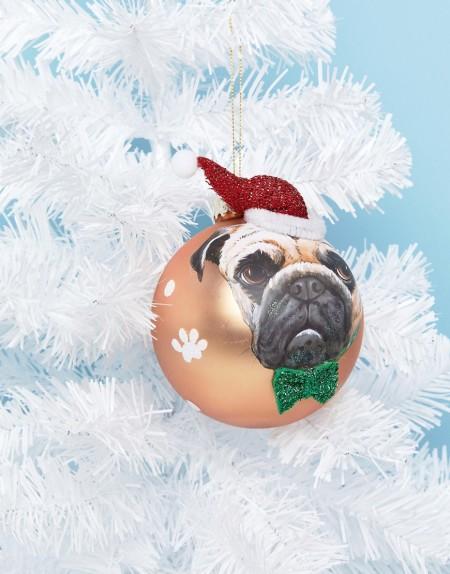 Paperchase - Weihnachtsdeko mit Mops - Mehrfarbig