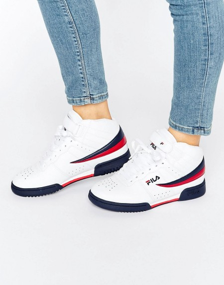 Fila - F-13 - Mittelhohe, weiße Sneaker - Weiß