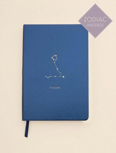 Soul Zen Studio: Fische Sternzeichen Notizbuch Blau