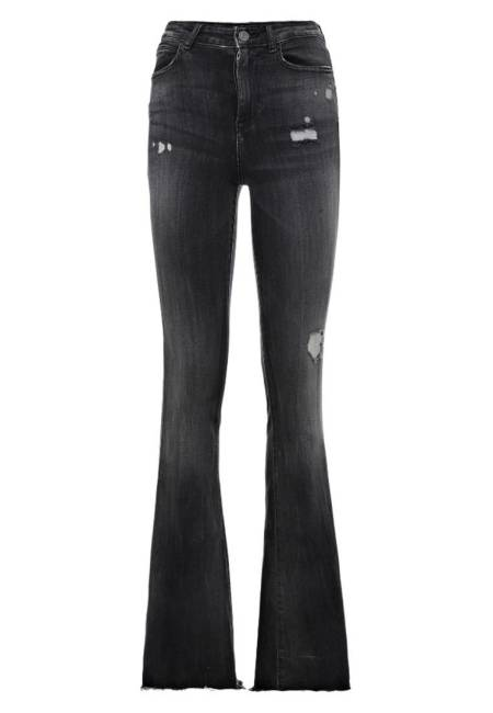 Guess: Flared Jeans - schwarz