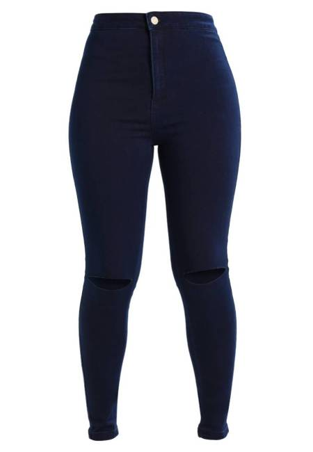 Missguided: VICE HIGH WAISTED SLASH KNEE - Jeans Skinny Fit - blue