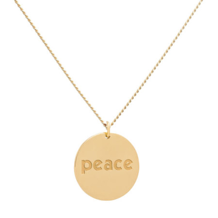 blue billie: Peace Necklace Gold Plated