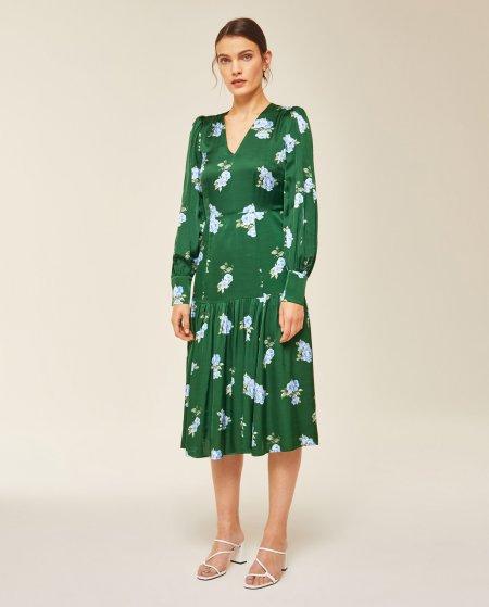 IVY & OAK: Midi Kleid mit Blumenmuster
