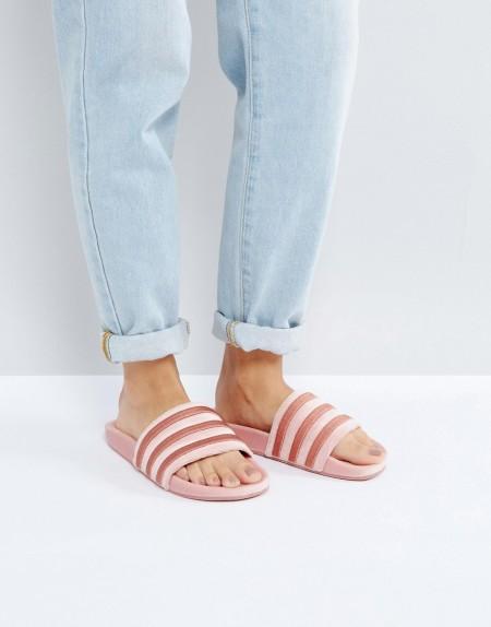 adidas Originals - Velvet Vibes - Sandaletten in Rohrosa - Rosa