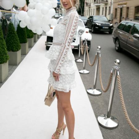 Fashion Movements: White chrochet lace layer dress