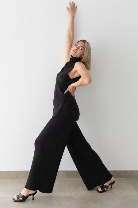 Stefanie Giesinger for nu-in: Wide Leg Ribbed Pants