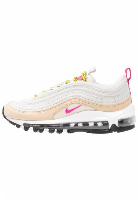 Nike Sportswear: AIR MAX 97 - Sneaker low - light bone/deadly pink/mushroom/bright cactus/black/white