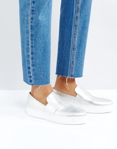 Vagabond - Camille - Sneaker in Silber - Silber