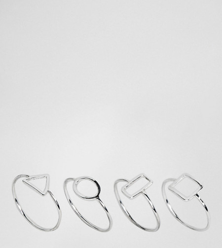 Liars & Lovers: Liars and Lovers - Geo-Ring-Set aus Sterlingsilber - Gold