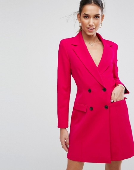 ASOS Tailored - Sexy Blazer mit langem Schnitt in Rosa - Rosa