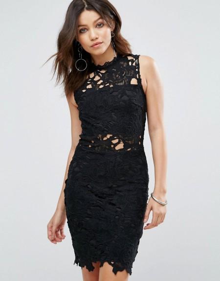 Parisian - Kleid aus Spitze - Schwarz