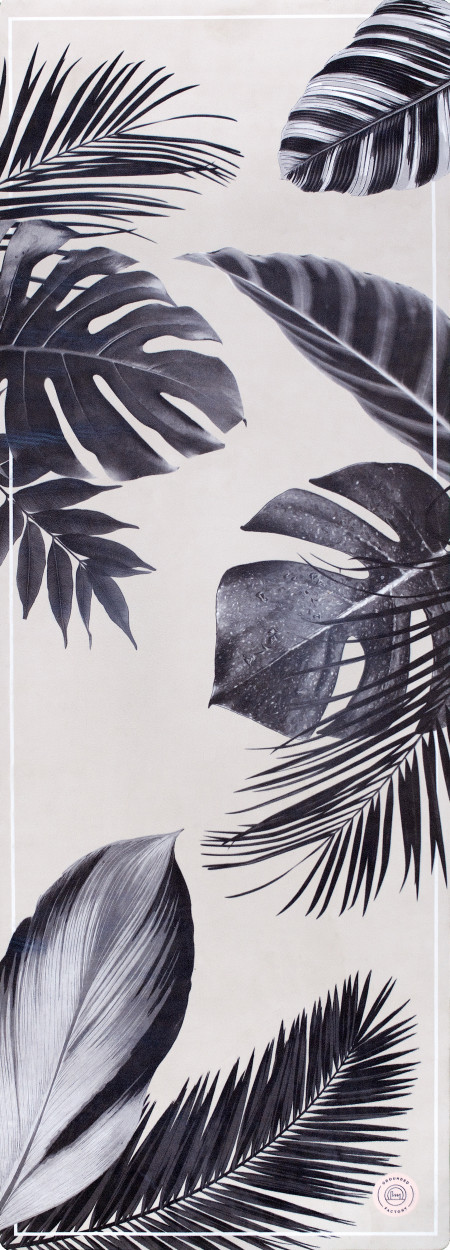 Grounded Factory: Botanical Garden Black Yoga Mat