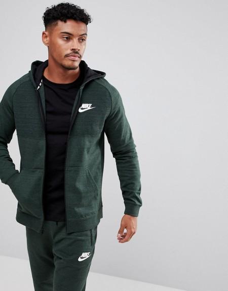 Nike - Advance - Grüner Kapuzenpullover aus Strick mit Reißverschluss 883025-332 - Grün