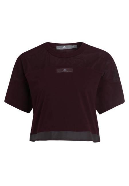 adidas by Stella McCartney: ESSENTIAL CROP - T-Shirt basic - dark bordeaux