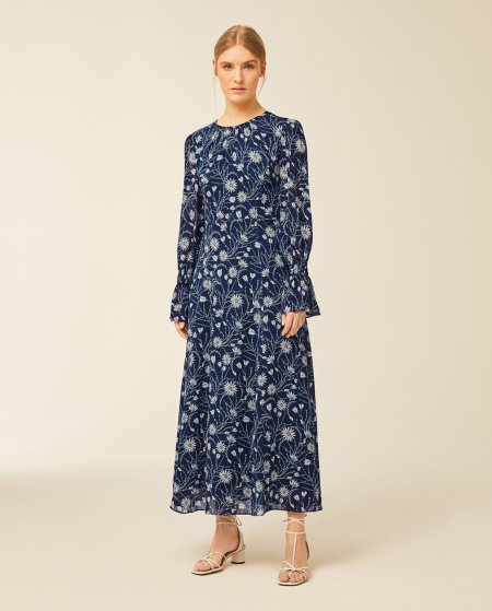 IVY & OAK: Midi Kleid mit Blumenprint
