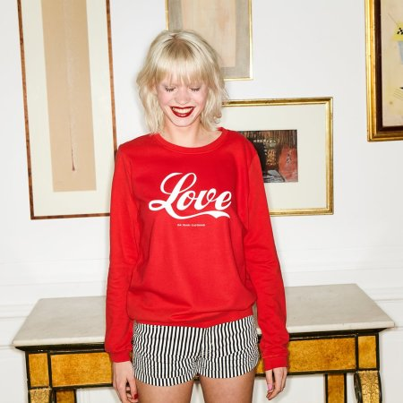 Oh Yeah! Clothing: Pop Love Sweater Red