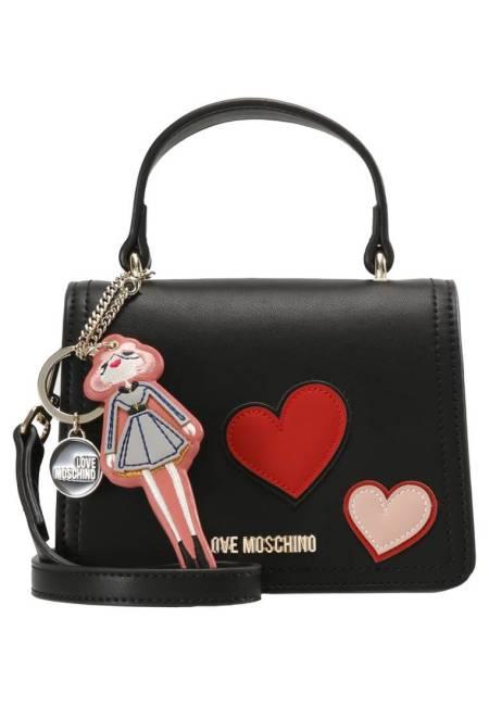 Love Moschino: HEART PATCH  - Umhängetasche - nero
