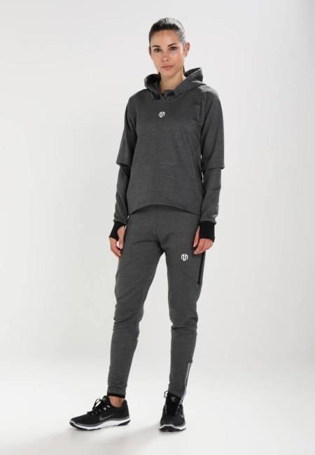 MOROTAI: NAKA COMFY PERFORMANCE - Kapuzenpullover - dark grey