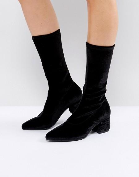 Vagabond - Mya - Schwarze Stiefel mit Samtschaft - Schwarz