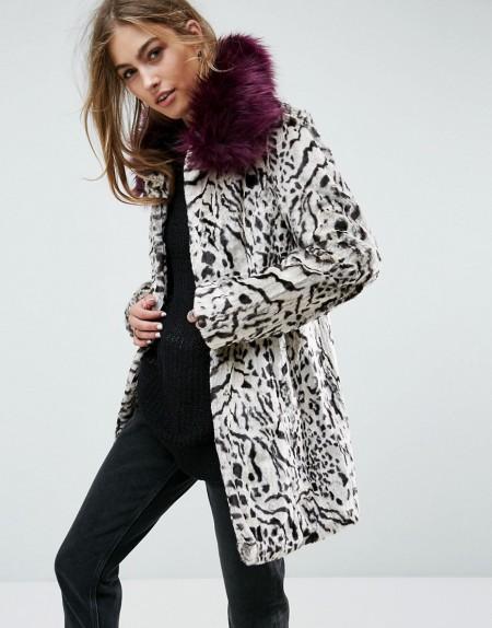 Unreal Fur - Urban Jungle - Mantel - Mehrfarbig