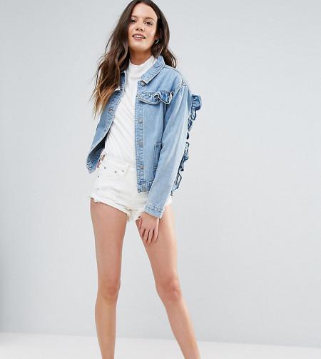 Glamorous Tall - Jeans-Shorts mit Rissen - Mehrfarbig