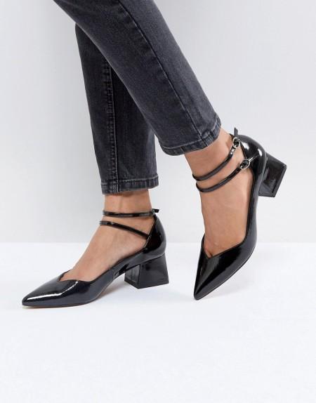 ASOS - SINCERE - Spitze Schuhe mit mittelhohem Absatz - Schwarz