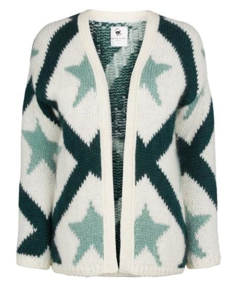 Fabienne Chapot Strickjacke Sari Graphic White