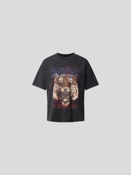 Anine Bing: T-Shirt mit Label-Print
