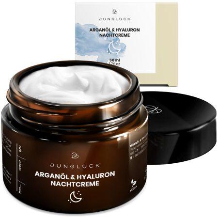 Junglück - Natürliche Kosmetik: Arganöl & Hyaluron Nachtcreme