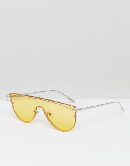 Jeepers Peepers - Visor-Sonnenbrille mit gelb gefärbten Gläsern - Gelb