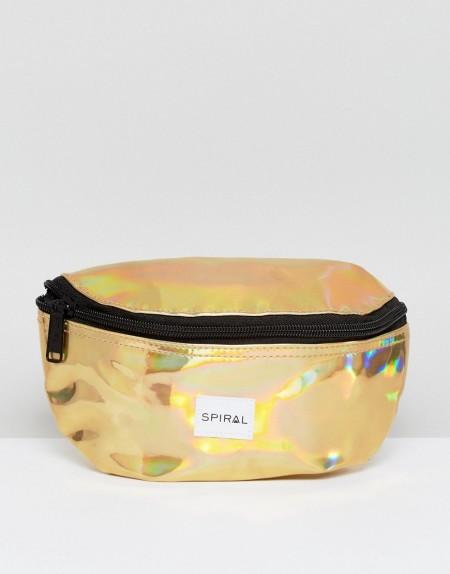 Spiral - Rave - Goldene Gürteltasche - Gold