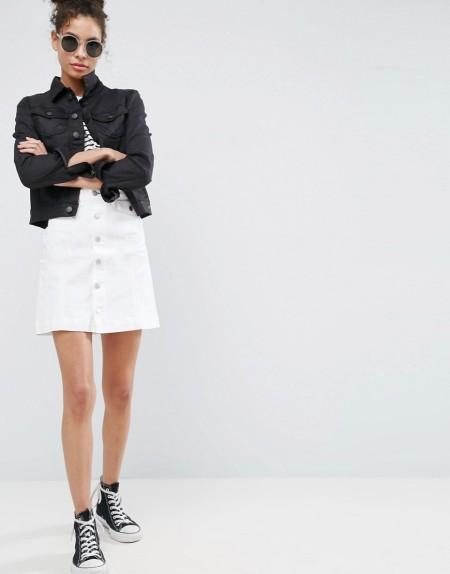 Ditto's: Dito's Chloe - Minirock mit hohem Bund - Weiß